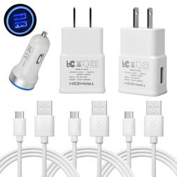Type C Cable Fast Car Wall Charger for LG G6 G7 V40 V35 V30