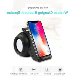 US Fast Wireless Charger AUX Bluetooth Speaker Phone Holder