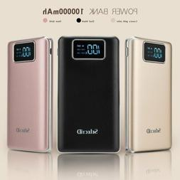 US Portable 100000mAh Power Bank 2 USB LCD Backup Battery Ch