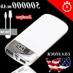 USA 500000mAh Portable Power Bank Charger External Battery f