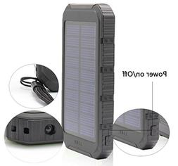 USA SOLAR CHARGER Cell Phone Waterproof USB PortableEDC Surv
