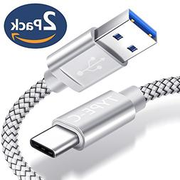 JSAUX USB Type C Cable,USB A 3.0 to USB-C Fast Charger Nylon