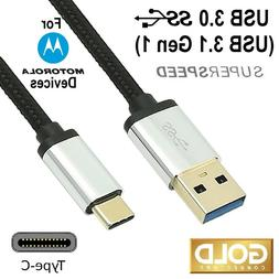 USB C CABLE 3.1 Gen 1 SUPERSPEED 3.0 for MOTOROLA CELL MOBIL