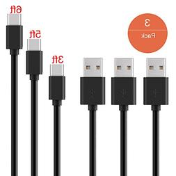 Suanna iPhone Charger 3Pack 10FT Nylon Braided Certified