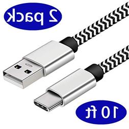 USB Type C Cable,  USB C to USB A Charger, Nylon Durable Bra