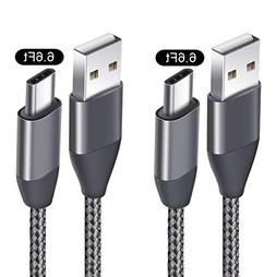 USB C Cable 6.6FT 2 Pack, USB A 2.0 to Type C Charger Cord N