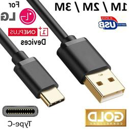 USB C CABLE for LG or OnePlus MOBILE CELL PHONE 3FT 6FT 10FT
