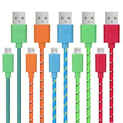USB Cable, Pofesun 5-Pack 10ft Premium High Speed USB 2.0 A