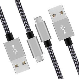 USB Type C Cable,AILANSI USB C Cable,Nylon Braided Super Fas