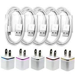 5X White Home Wall AC Charger for iPhone XS X 8 7 6 5 Data S