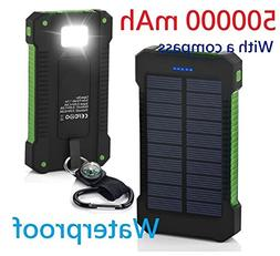 500000mAh USB Portable Solar Battery Charger Solar Power Ban