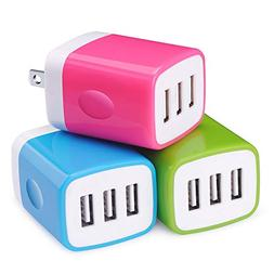 usb wall charger 3 pack universal 3
