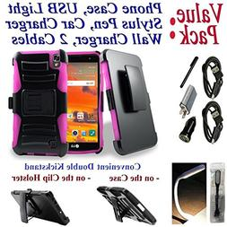 """Value Pack Cables Chargers + for 5.3"""" LG X POWER xpower Case"""