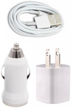 Wall & Car Charger Adapter 6FT USB Charging Data Cable for P