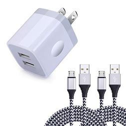 Wall Charger,Sicodo 2.1A Dual Port USB Wall Charger Universa