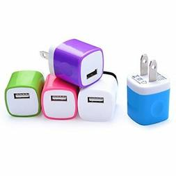 Wall Charger, NonoUV 5-Pack 1Amp Universal Home Travel Charg