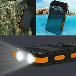 Waterproof 500000mAh Dual USB Portable Solar Charger Solar P