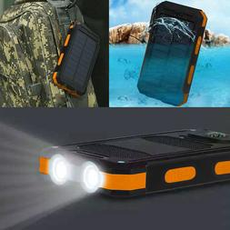 Waterproof 900000mAh Dual USB Portable Solar Charger Solar P