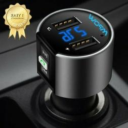 MPOW Wireless In-Car FM Transmitter AUX Radio Adapter Car US