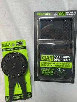 Wireless Phone Charger COMBO CAR   + HOUSE  FREE AUX CORD