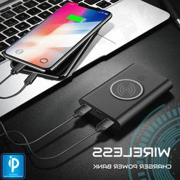 WIRELESS Phone Charger Qi PORTABLE Power Bank for Apple iPho