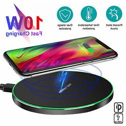 Wireless Phone Fast Charger Qi 10W Pad Mat for iPhone 8 11 X
