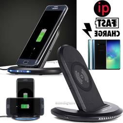 Wireless Phone Fast Charger Stand Qi Dock 10W iPhone 8 X 11