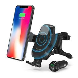 RAVPower Wireless Qi Fast Charger 7.5W/10W Car Mount Kit, Au