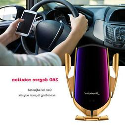 Wireless Sensor Automatic Clamp Car Phone Charger Charging M
